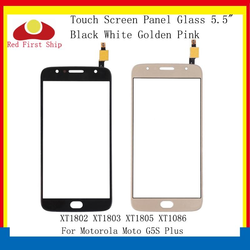 10 unids/lote de pantalla táctil para Motorola Moto G5S Plus XT1802 XT1803 XT1805 XT1086 Panel táctil digitalizador Sensor frontal Lente de Cristal LCD