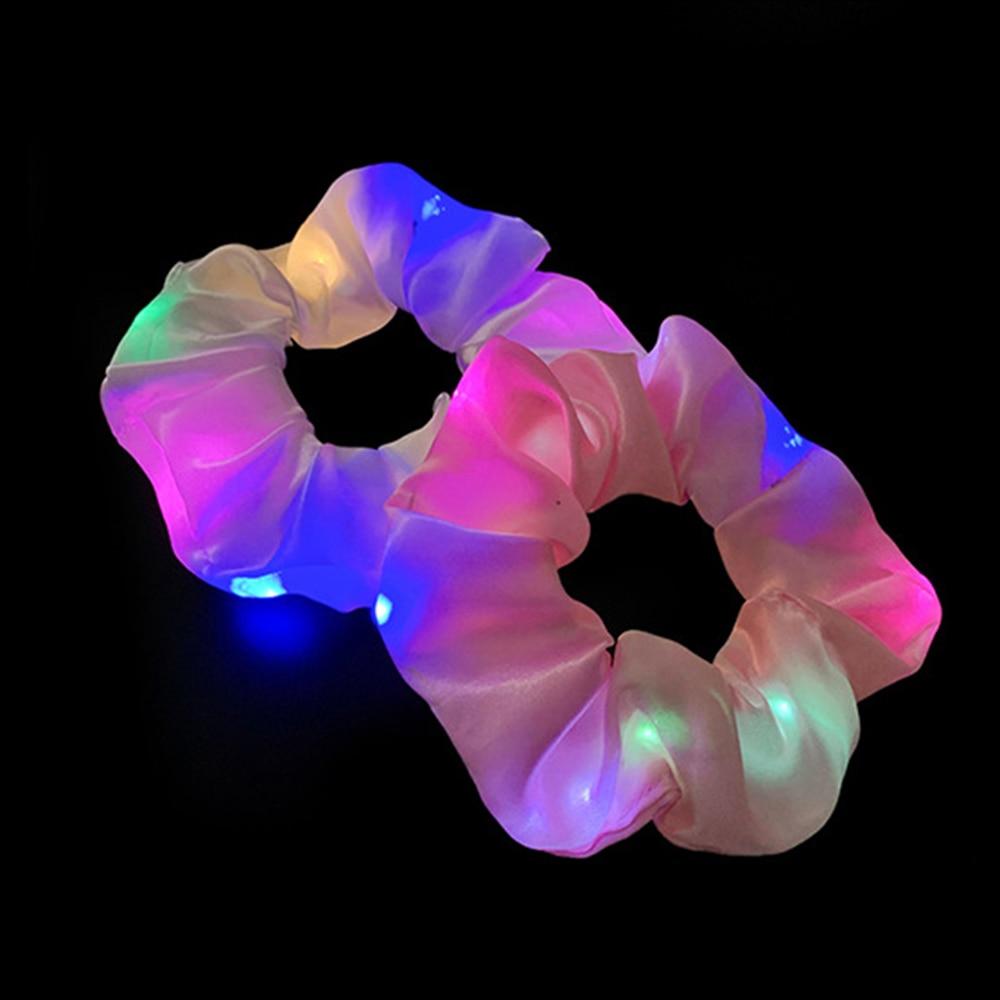 Qızlar LED işıq saçalı saç bandı, quyruq tutucu, elastik saç - Geyim aksesuarları - Fotoqrafiya 6
