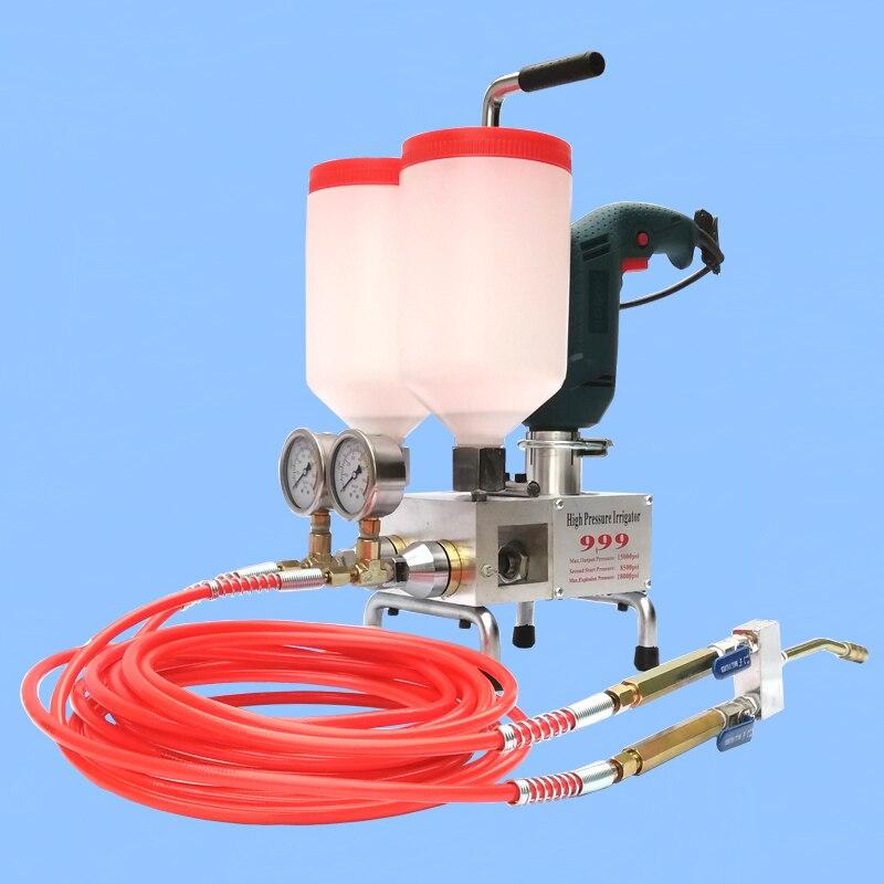 المزدوج السائل ذات الضغط آلة الحشو اثنين مكون ذات ضغط تسرب آلة الحشو اثنين برميل عالية presGrouting التوصيل