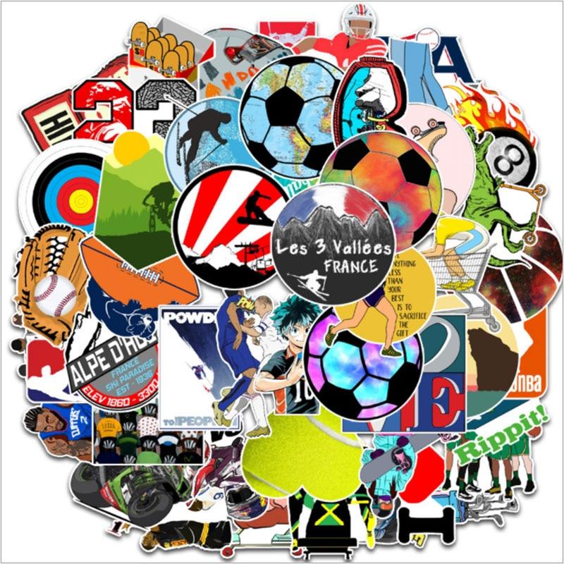 10/30/50Pcs/Set  Sports movement Graffiti For Snowboard Laptop Luggage Fridge Car- Styling Vinyl Decal Home Decor Stickers