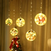 led copper wire lamp christmas curtain lamp light color painting hanging lamp use usb to charge for indoor lighting decoration