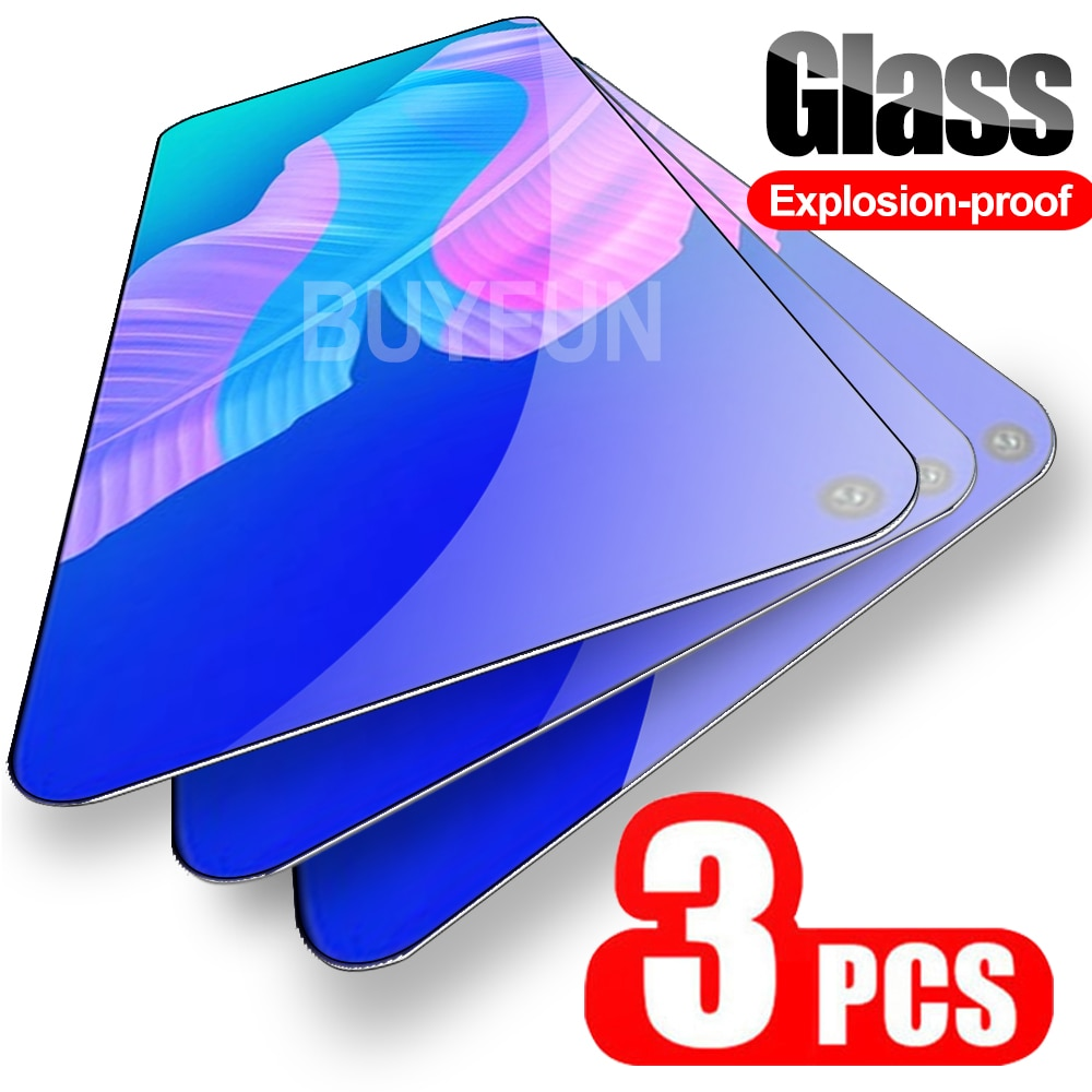 3PCS Safety Glass For Huawei P40 Lite E Screen Protector For Hauwei P20 P30 P40 Pro Lite P 30 40 Cov