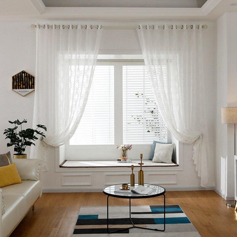 Cortina de ventana filtrante de luz de gasa semitransparente de 15 tipos, paneles de ojal para decoración de dormitorio, sala de estar y comedor en 3 tamaños