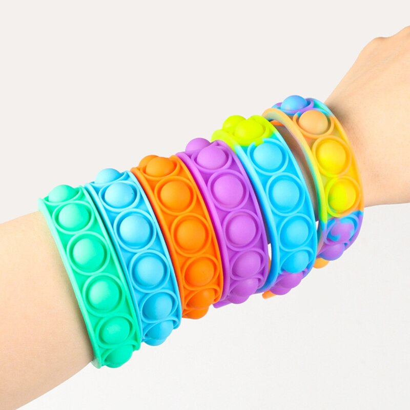 New Fidget Toys For Children Push Bubble Dimple Bracelet Decompression Toy s Anti Stress Reliever Sensory Toy Kids Gift