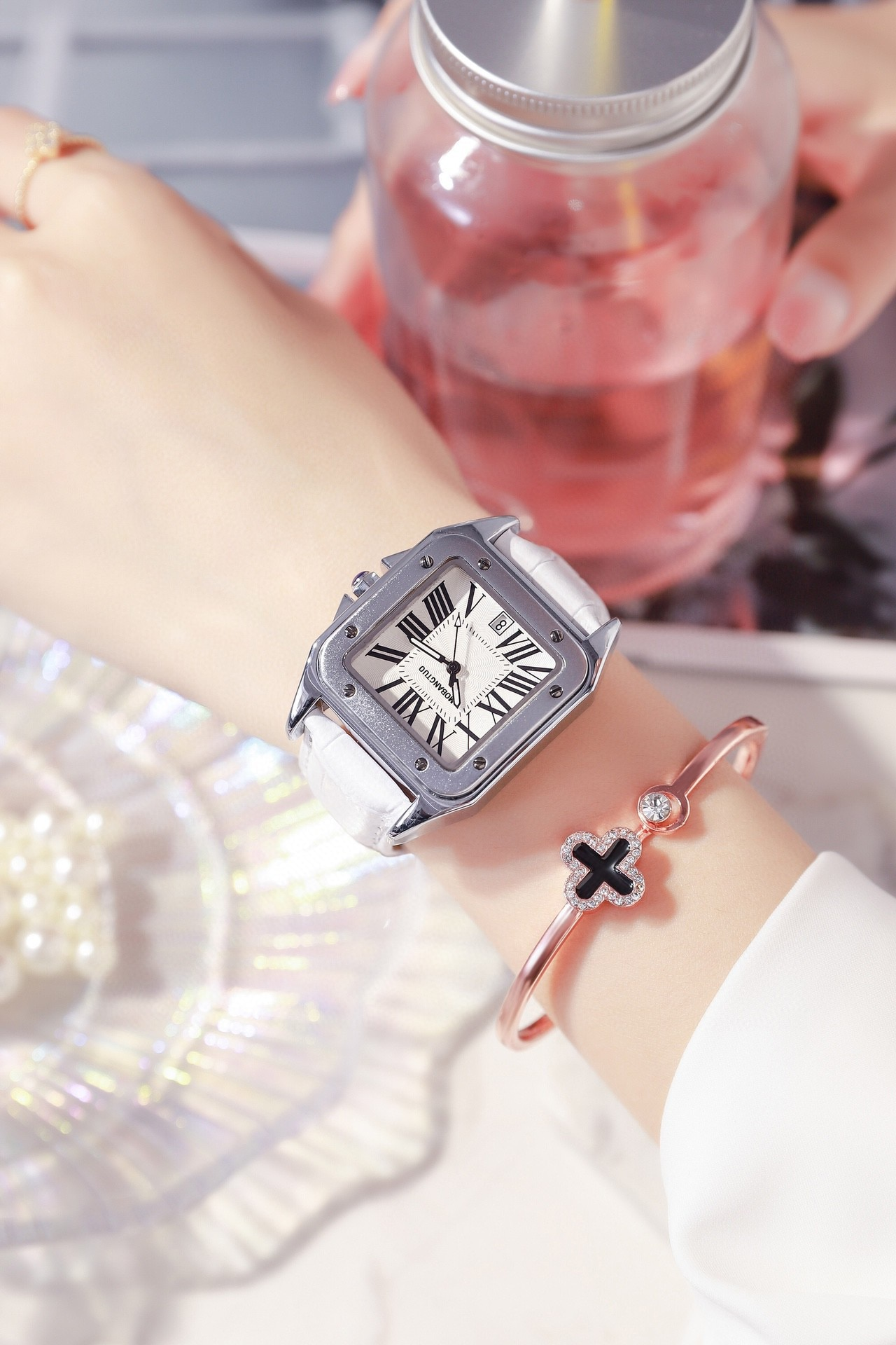 Women's Watch Square Fashion Big Dial Waterproof Calendar Quartz Gift Automatic Watch Relojes Para Mujer Stainless Steel Watch enlarge