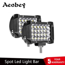 2PCS LED Bar 4 inch 72W LED Licht Bar 4 Reihen Arbeit Licht bar für Fahren Offroad Boot auto Traktor Lkw 4x4 SUV 12V 24V