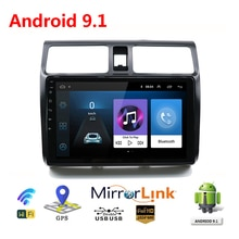 Autoradio 10 pouces HD voiture Mp5 lecteur multimédia Android 9.1 autoradio GPS Navigation Wifi Bluetooth pour Suzuki Swift 2005-2010