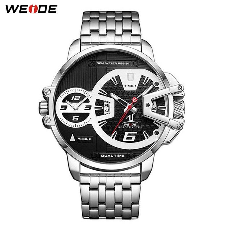 ساعة اليد للرجال الذكور على مدار الساعة الفولاذ المقاوم للصدأ حزام تاريخ الرجال الكوارتز ساعات المعصم هدايا عيد الآباء