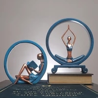 yoga statue resin sculpture yoga statues for decoration girl nordic home decor tabletop office home decoration accessories