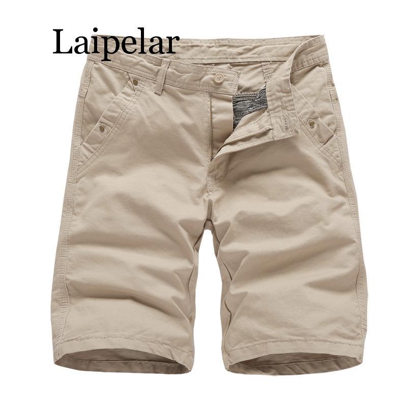 Шорты-карго мужские в стиле милитари, хлопковые однотонные повседневные пляжные штаны, черные, лето 2020