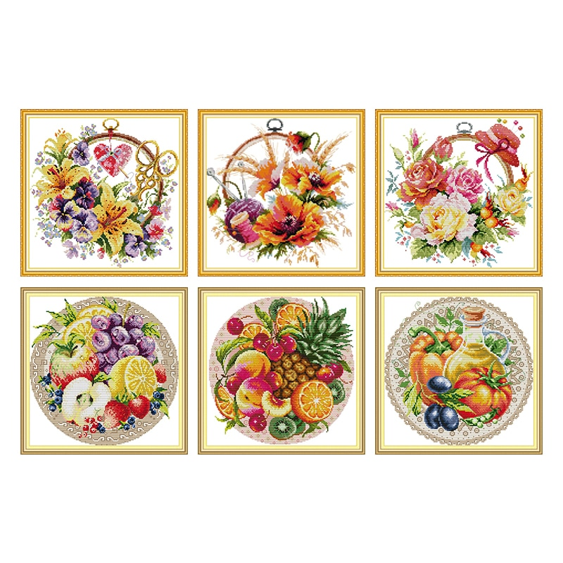 DIY Needlework Kits Embroidery Kits Counted 11CT Printed on Canvas 14CT DMC Cross Stitch Kits Cotton Thread Painting Home Decor stamped cross stitch kits joy sunday oil painting girl printed 11ct 14ct counted home decor embroidery handmade needlework sets