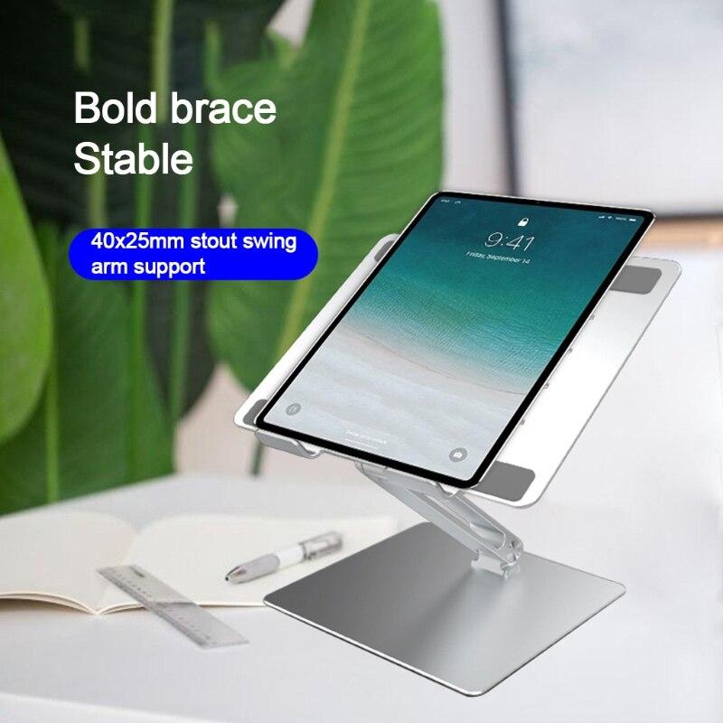 للطي حامل كمبيوتر محمول الألومنيوم ارتفاع قابل للتعديل دفتر التبريد حامل طوي قوس لجميع أجهزة الكمبيوتر اللوحية 7-17in
