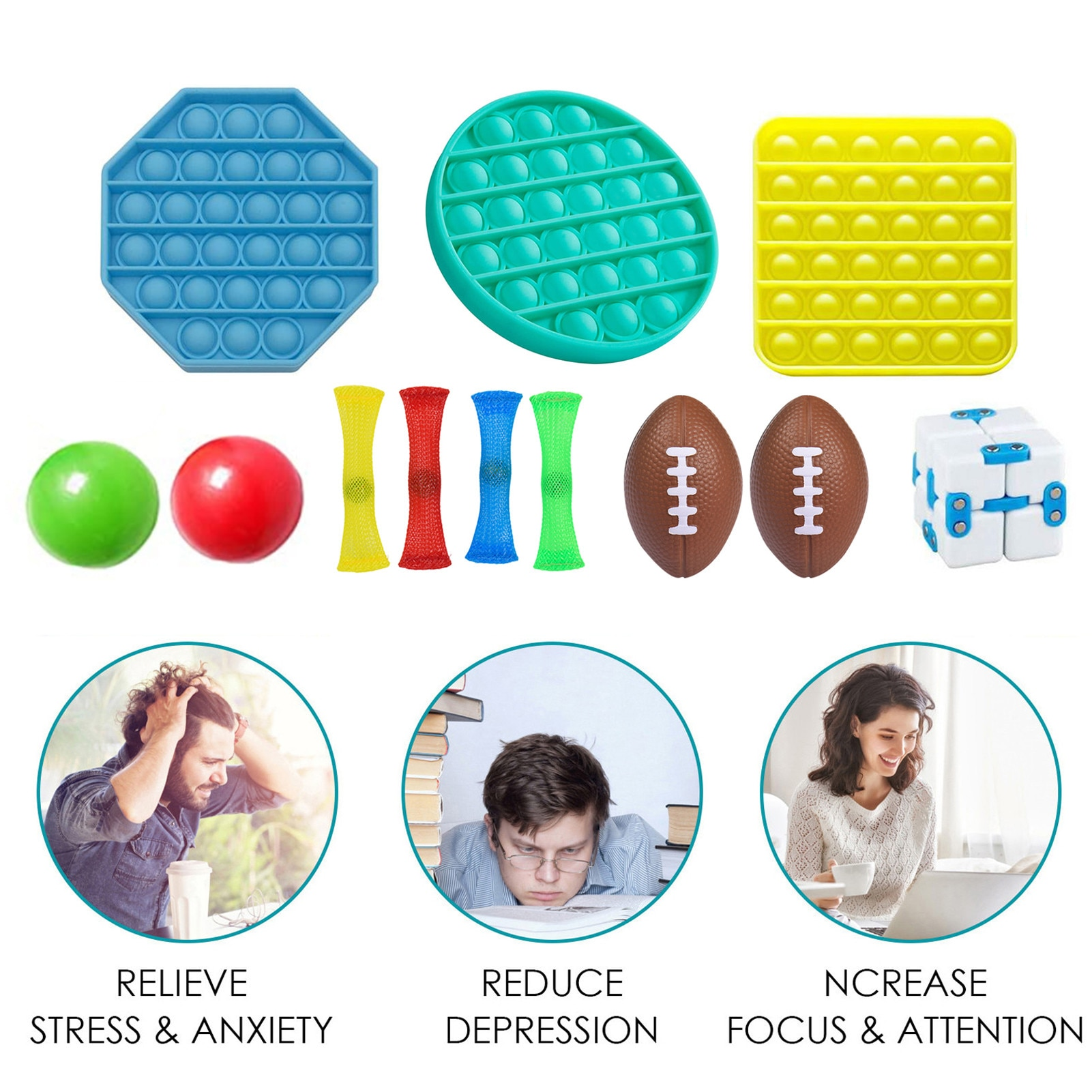 Novelty Fidget Antistress Toys Decompression Antistress Simple Dimple Hand Stress Relief Toy For Children Kids Adults BPA-Free enlarge