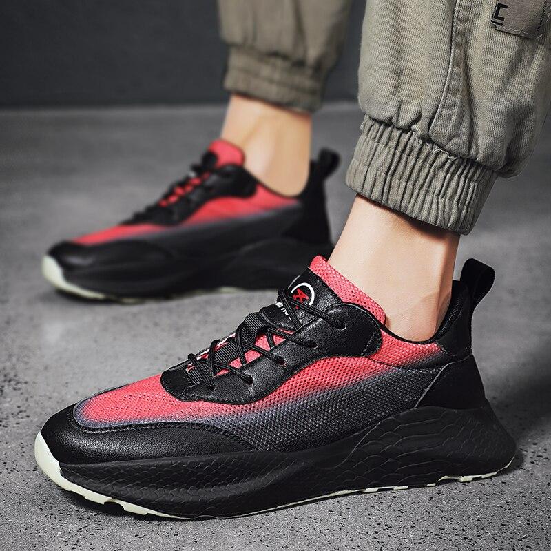 Sapatilhas masculinas tenis masculino preto sapatos casuais dos homens do hip hop deslizamento em mocassins schuhe 2018