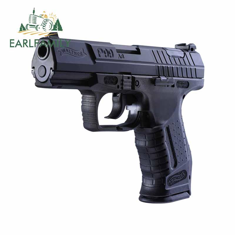 EARLFAMILY, 13cm x 13cm, para Walther P99, pegatina de personalidad para coche, a la moda oclusion, rascador, adecuada para VAN RV SUV, pegatina