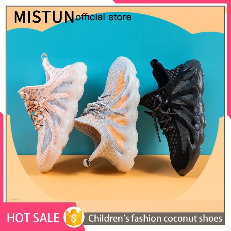 2021 new children's mesh breathable coconut shoes for boys and girls fashion medium and large size s