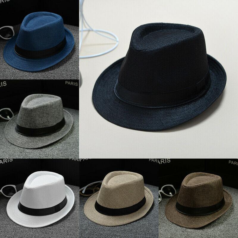 Модные мужские женские формальные шляпа соломенная шляпа Федора летнего солнца Панама кепки пляжная шляпа
