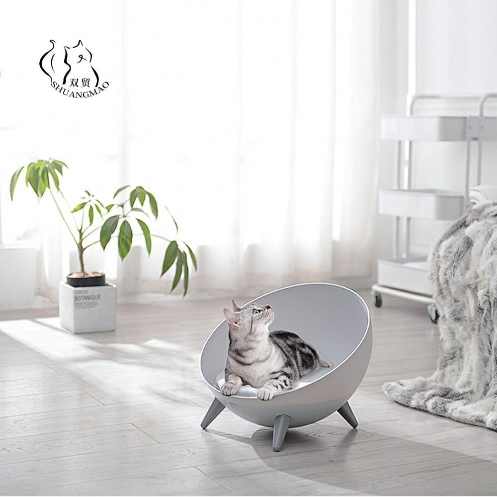سرير الحيوانات الأليفة ، نصف كروي ، بيت الكلب ، سلة القطط الصغيرة ، سلة عالمية للقطط ، نافذة داخلية ، سجادة دافئة
