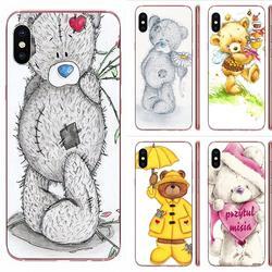 Tpu capa do telefone móvel engraçado bordado ursinho de pelúcia para huawei companheiro 9 10 20 p p8 p9 p10 p20 p30 p40 lite pro inteligente 2017