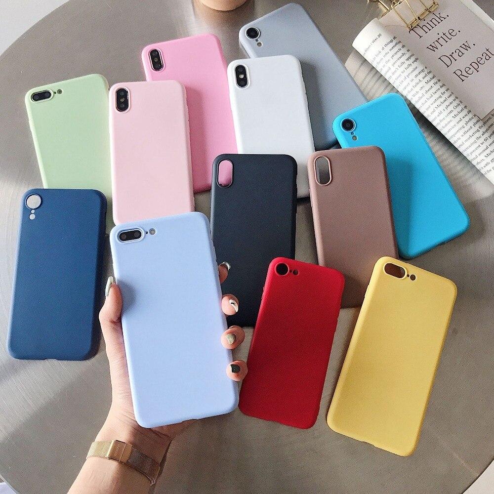 Para samsung galaxy a01 a11 a21 a41 a51 a71 a91 matte pastel doces caso macio telefone capa traseira pele escudo
