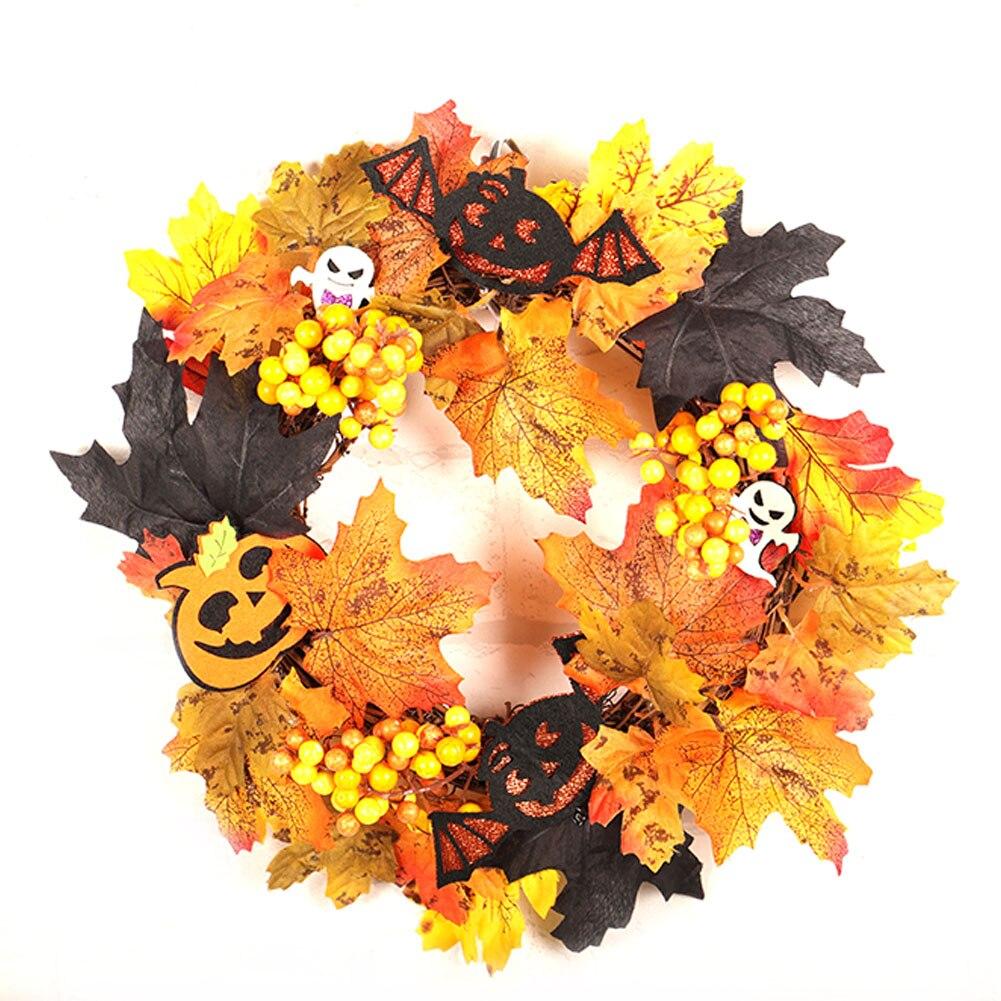 Halloween simulan bonita guirnalda de flores colgante para la decoración de la ventana de la puerta del restaurante