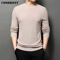 coodrony brand spring autumn high quality casual embroidery long sleeve o neck knitwear sweater pullover shirt men clothes c1260