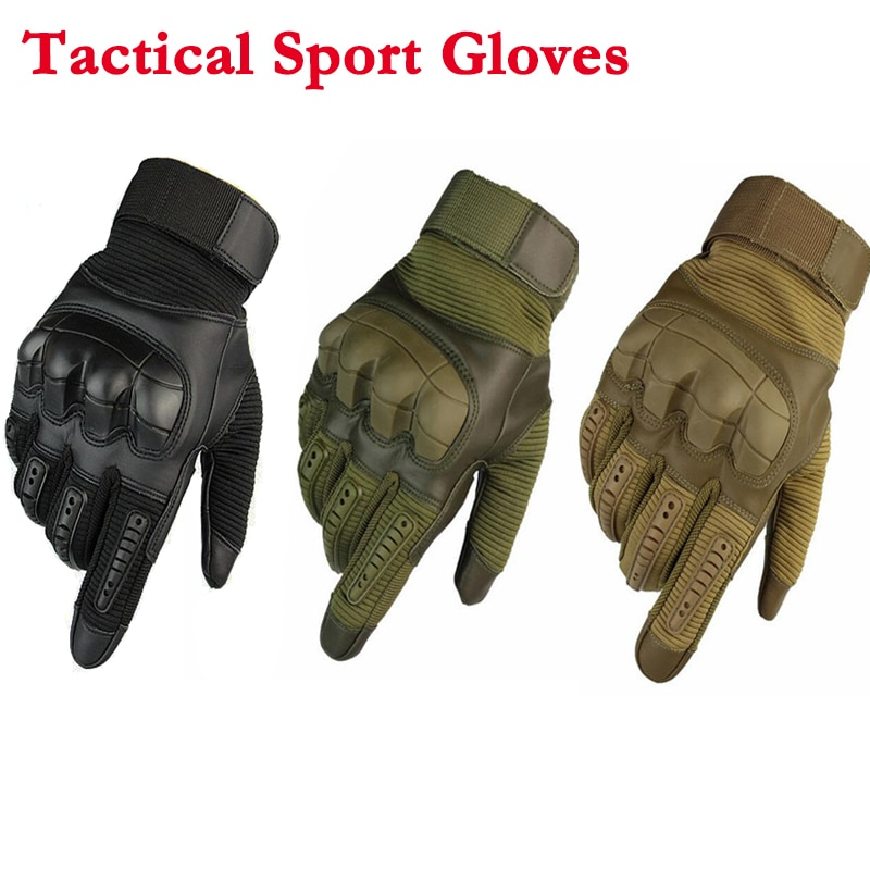 Anti-Skid Mittens Outdoor Shooting Cycling Riding Climbing Running Gloves Tactical Hiking Rubber Ful