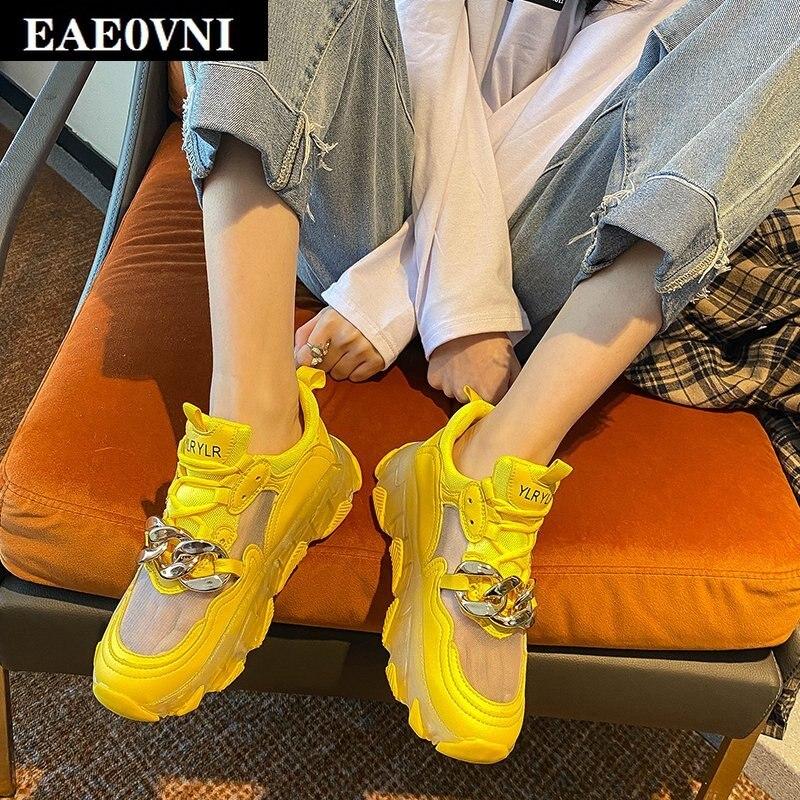 Sapatos de Malha de Verão Sapatos de Caminhada ao ar Calçados Esportivos Femininos Novos Moda Corrente Decoração Feminina Livre Sapatos Casuais