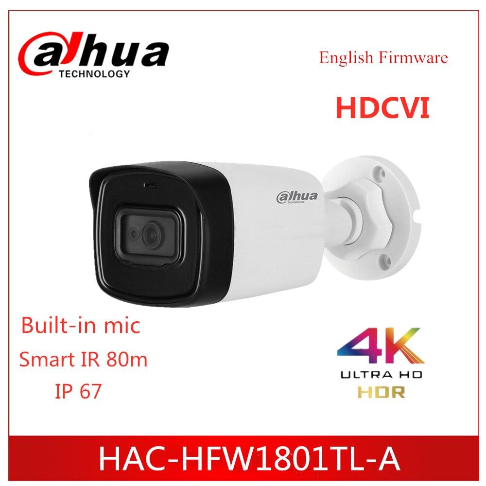 Cámara Dahua Lite Plus serie 4K HDCVI Cámara IR Bullet Cámara HAC-HFW1801TL-A micrófono integrado IR 80m IP67 cámara de seguridad