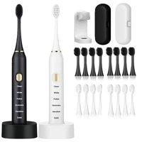 sonic electric toothbrush adult timer brush 6 mode usb rechargeable electric tooth brushes with replacement brush head