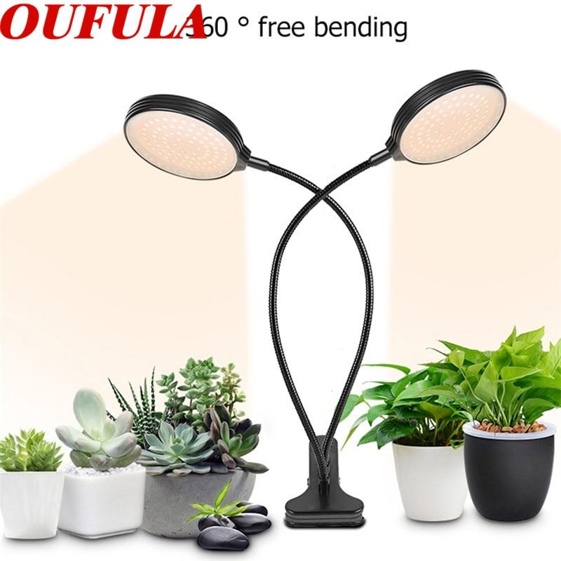 OUFULA luces Led para cultivo de plantas, Clip de Control remoto USB, lámpara de plantación de plántulas de espectro impermeable