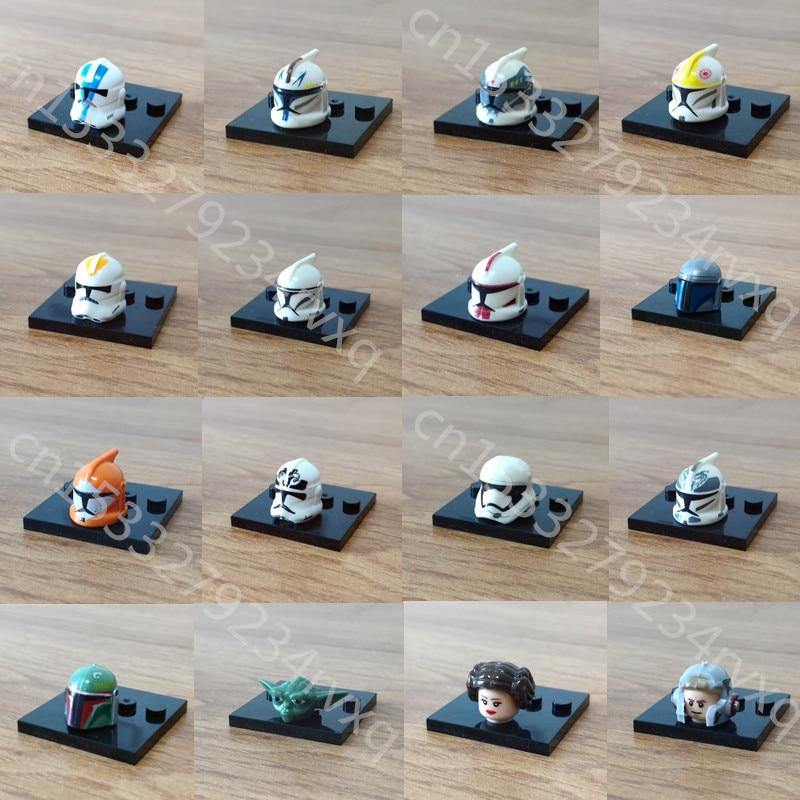 1 Uds el último Jedi Yoda Obi-Wan Darth Vader tormenta bloques de construcción de Starwars ladrillos regalo juguetes para niños figuras de Star wars