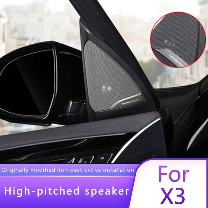 Cubiertas de Tweeter para bmw g01 bmw serie x3 altavoces de audio trompeta cabeza agudos abs material original modelo Ajuste de alta calidad