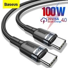 Baseus 100W USB C a USB tipo C cavo USBC PD cavo di ricarica rapida USB-C 5A tipo-c cavo per Xiaomi POCO X3 M3 Samsung Macbook iPad