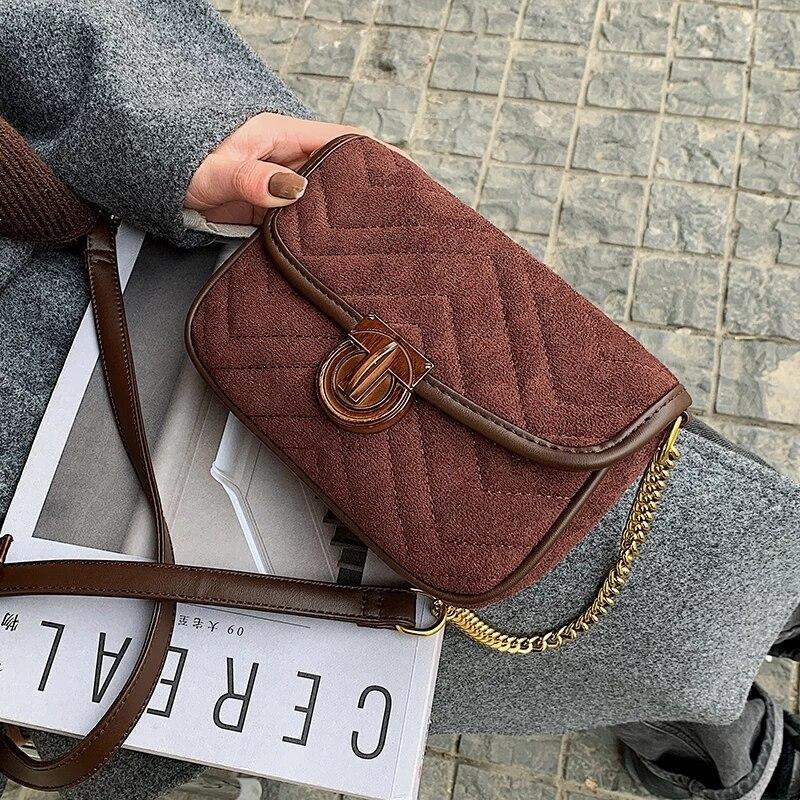 Luxury Beautiful Design Women's Famous Brand Chain Handbag Female 2021 Mini Scrub Leather Crossbody Over Shoulder Bag