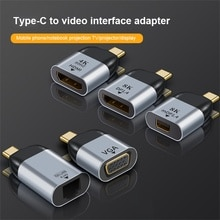 TYPE C vers HDMI 8k adaptateur HD VGA/3.1 Gigabit rj45 port réseau adaptateur DP 60HZ adapté pour MacBook Samsung Huawei Xiaomi