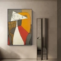 nordic style canvas paintings wall art abstract retro nordic poster print picasso pictures anime picture living kids room decor