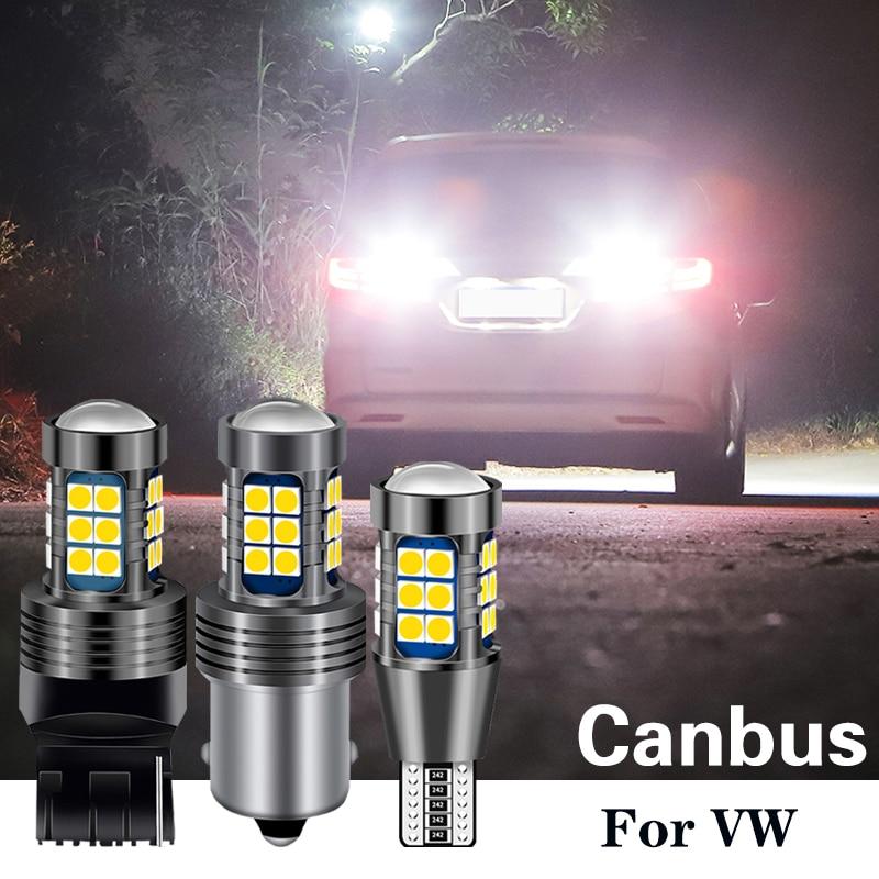 1 Uds LED luz Canbus W16W T15 P21W BA15S W21W para vw golf 4 5 5 5 6 6 7 passat b6 b5 b7 touran touareg polo 6r 9n mk3 jetta tiguan t5