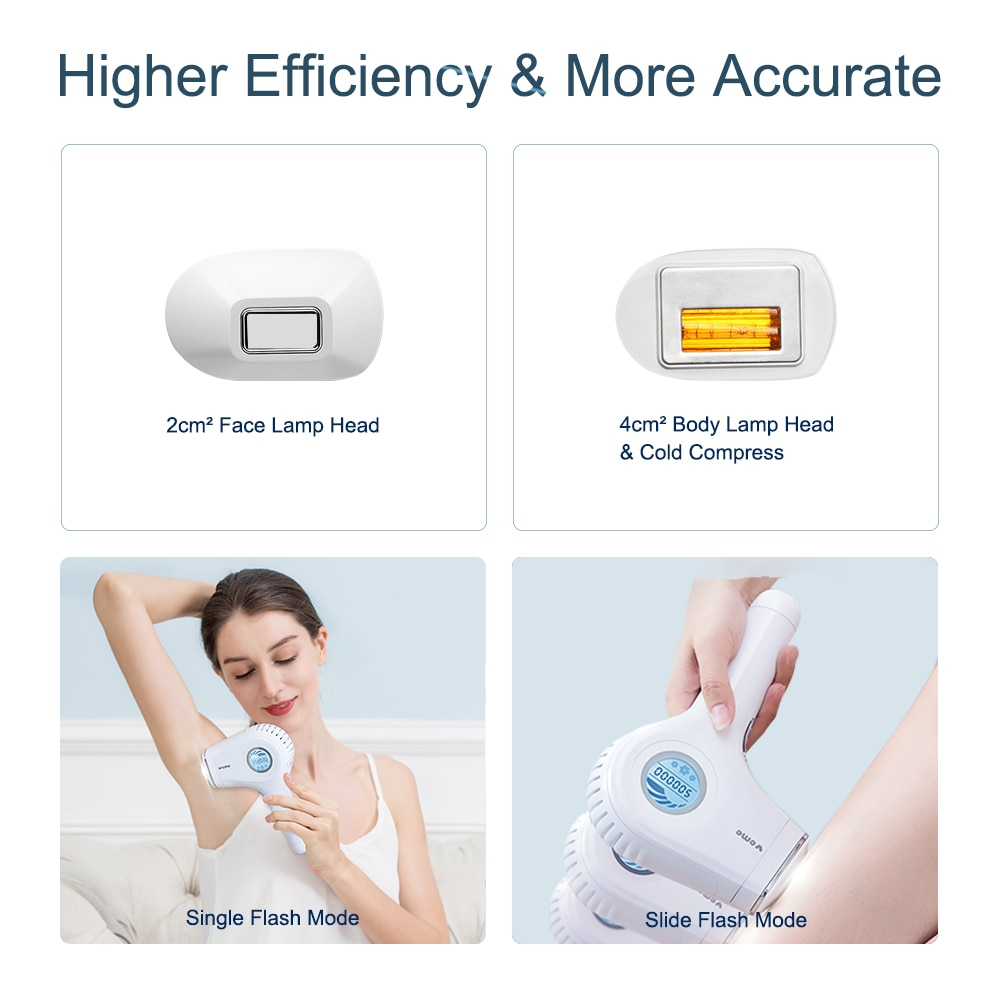 VEME 2in1 IPL Permanent Hair Removal Epilator a Laser Painless Whole Body Facial Hair Removal Machine Bikini Trimmer Electric enlarge