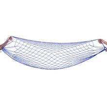 Jardim portátil náilon balanço pendurar malha rede de dormir cama rede para viagens ao ar livre acampamento hamac azul verde