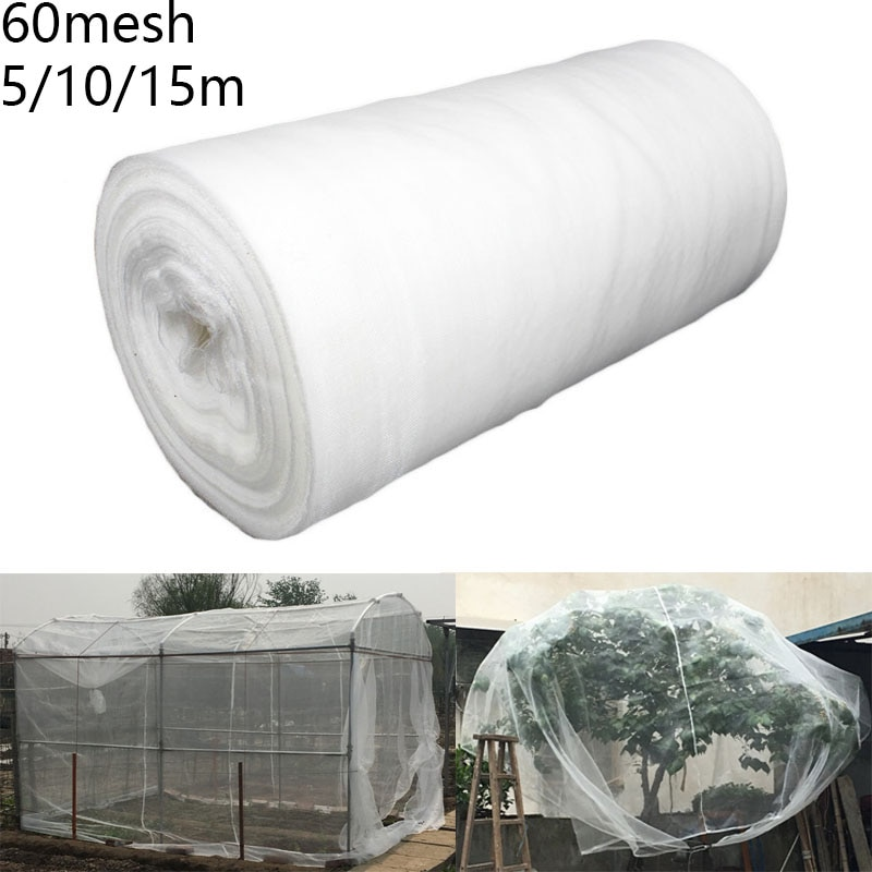 Greenhouse Protective Net 60mesh Fruit Vegetables Care Cover Insect Net Plant Cover Net Garden Pest Control Plant Potection Net