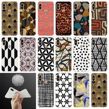 Geometric Shapes line Pattern Black and white lattice Case For Xiaomi Redmi Note 8 7 6 5 Pro 4x 7 6pro 6a s2 5a 4a 5plus y3