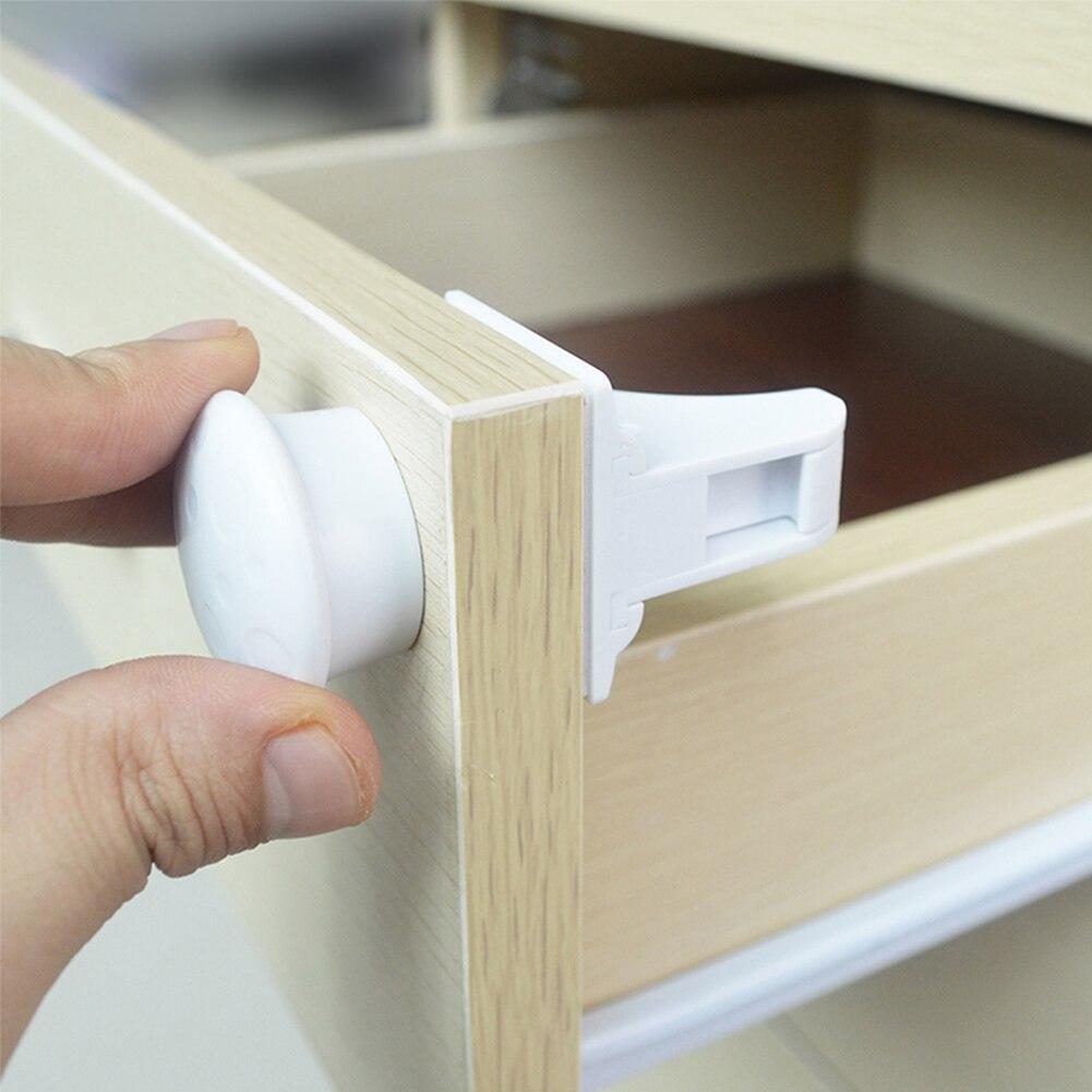 Seguridad de bebé 4-8 cerraduras + 1-2 teclas protecciones de bebé cerradura de puerta de armario cerradura magnética para niños cajón de seguridad cerrojos invisibles