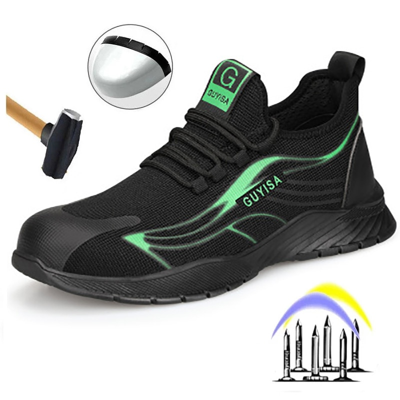 2021 New Anti Smash And Stab Safety Shoes Outdoor Wear Resistant Light Breathable Work Shoes Work Bo
