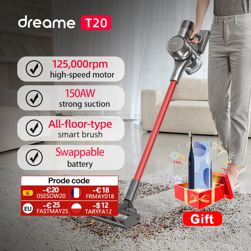 aliexpress.com - Dreame T20 Handheld Cordless Vacuum Cleaner Intelligent All-surface Brush 25kPa All In One Dust Collector Floor Carpet Aspirator
