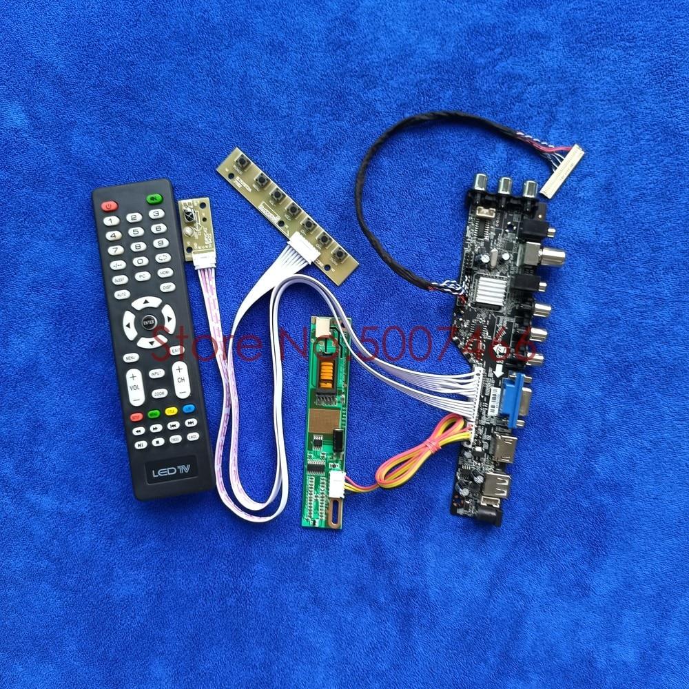 1680*1050 fit LP154W02/LP154WE2 LVDS 30-Pin USB + VGA + AV DVB إشارة رقمية 1CCFL وحدة تحكم عالمية كارت قيادة عدة الشاشة