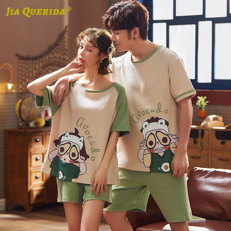 2020 nouveau Kawaii chinois pyjamas Matcha vert Homesuit vêtements de nuit vêtements de maison pyjama ensemble Pj ensemble lettre impression Pjs Couple pyjamas