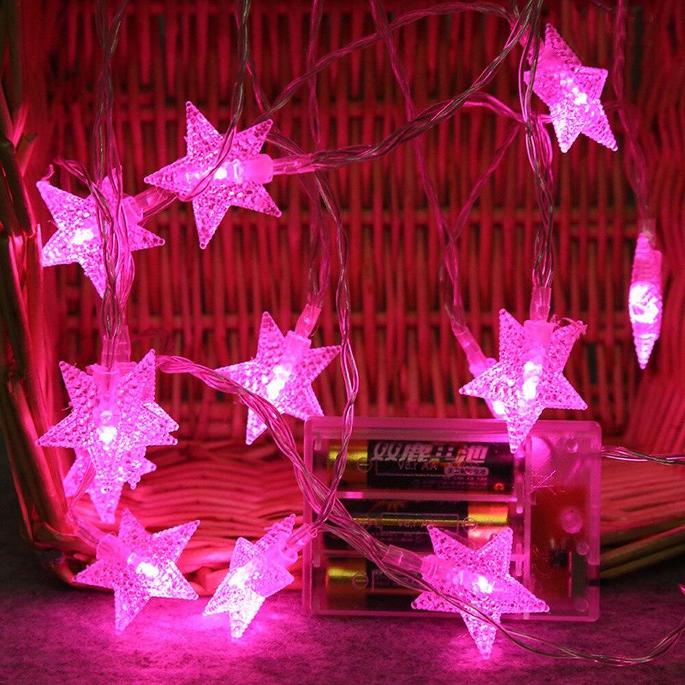 Вечеринка светодиод свет строка 2 м 10 светодиод кристалл прозрачный звезда фея строка свет девушки комната подвес свет свадьба вечеринка открытый декор лампа
