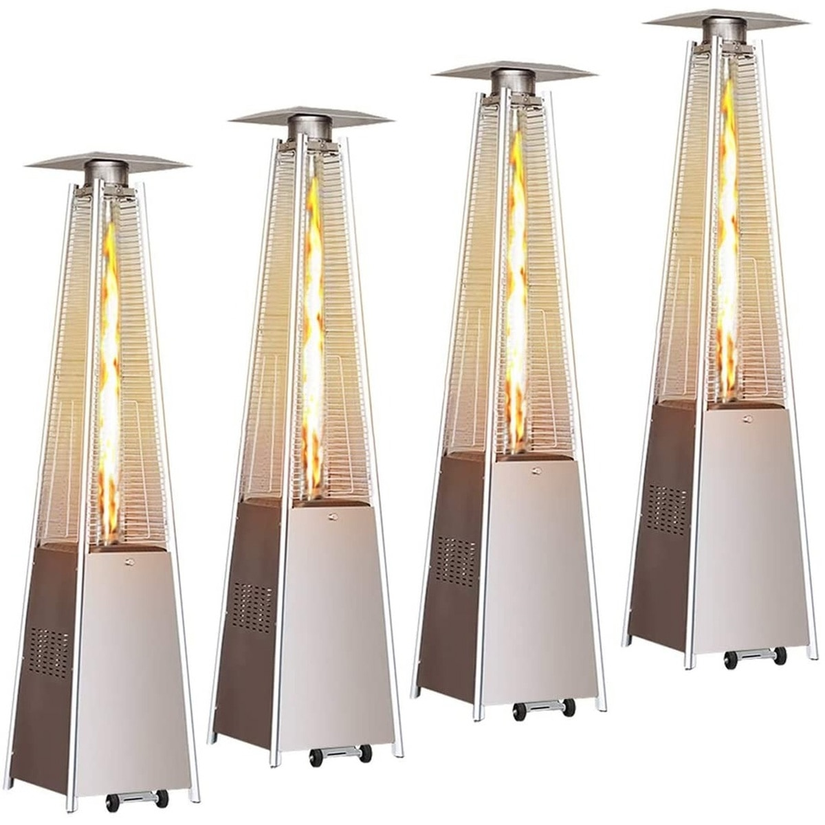 4PCS/Set Gas Patio Heaters Standing Heater Stove Propane Gas Portable Commercial Heater 46000 BTU for Winter Outdoor Party