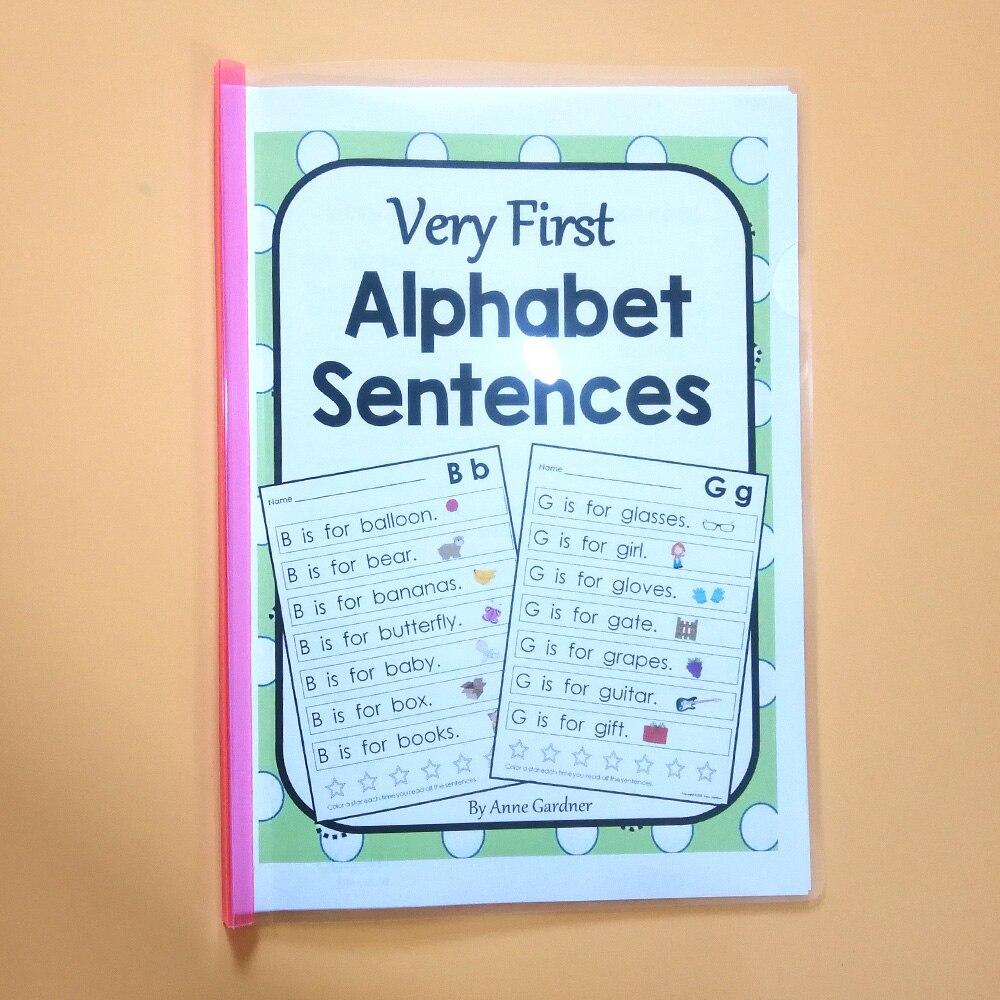 Aprendizaje de frases del alfabeto ABC, libro de trabajo en inglés, libro de ejercicios educativos para niños, juegos, aula, juguete educativo